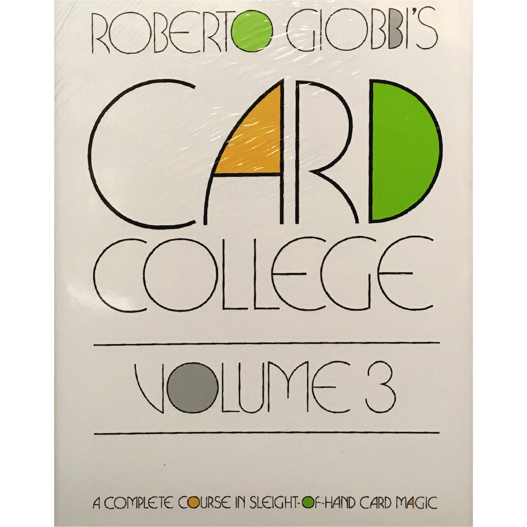 Card College Vol. 3 by Roberto Giobbi