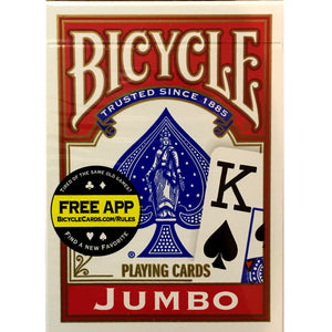 Bicycle Jumbo Index Playing Cards (Red Back)