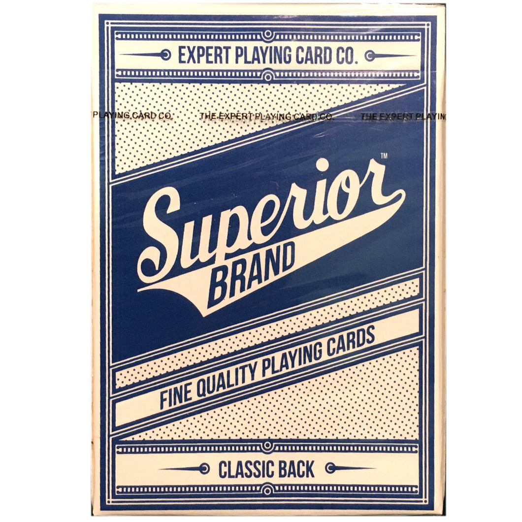 Superior Blue Playing Cards by Expert Playing Card Co.