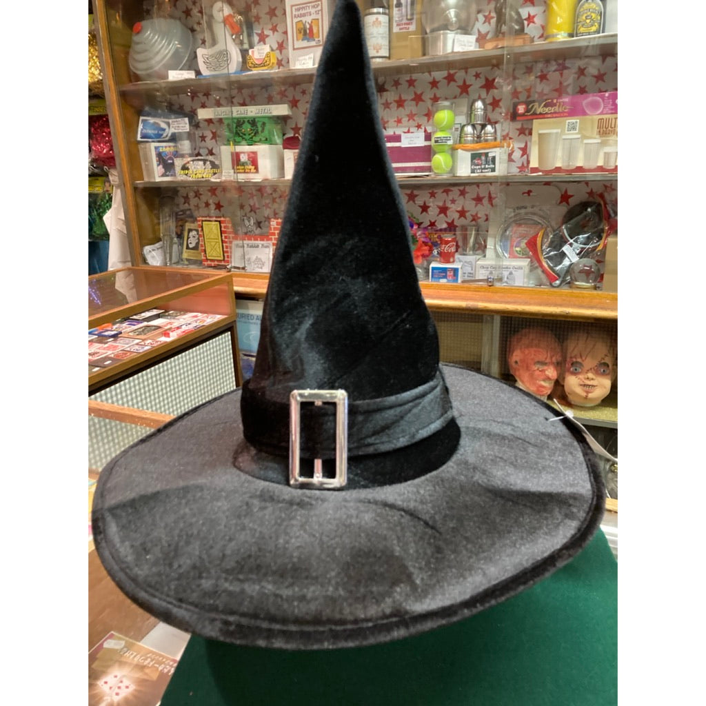 Deluxe Witch Hat with Buckle
