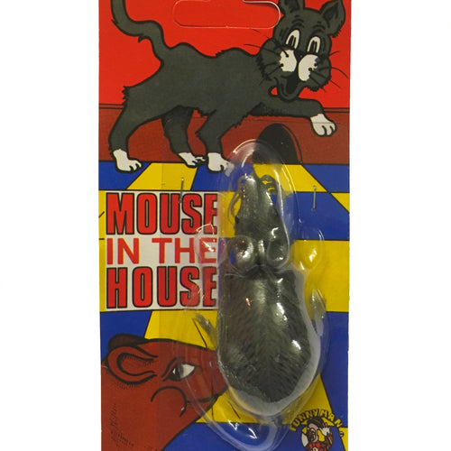 Realistic grey plastic mouse.