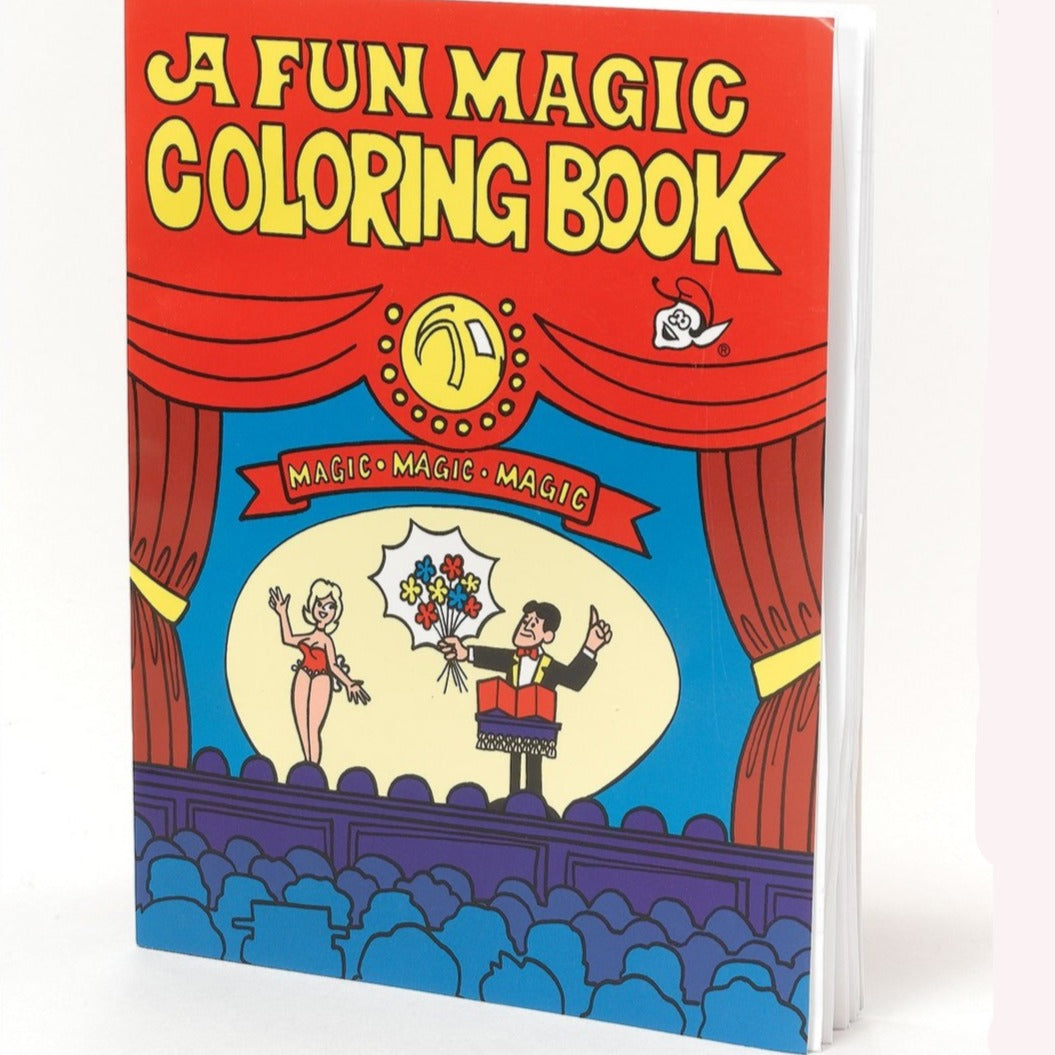 a magic trick easy to do colouring book red and blue with yellow text
