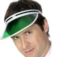 Load image into Gallery viewer, 80's Poker Visor (Green or Pink)