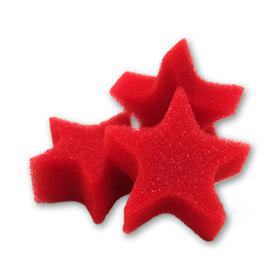Red Sponge Stars by Goshman
