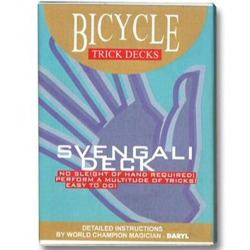 svengali deck no selight of hand required perform a multitude of tricks very easy to do magic bicycle trick decks detailed instructions by world champion magician