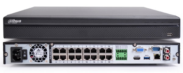 ENREGISTREUR VIDEO RESEAU IP PRO 16 PORTS PoE ULTRA HAUTE RESOLUTION 4K