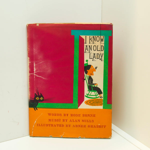 "Children's book ""I Know an Old Lady"" [1969] Illustrated by Abner Graboff vintage hardcover with jacket"