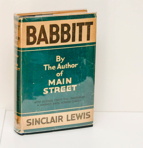 "Illustrated antique book ""Babbitt"" Sinclair Lewis [c.1924] Vintage Grosset & Dunlap photoplay-"