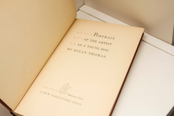 "HudsonPulp: Dylan Thomas ""Portrait of the Artist as a Young Dog"" First Edition [1940] hardcover-"