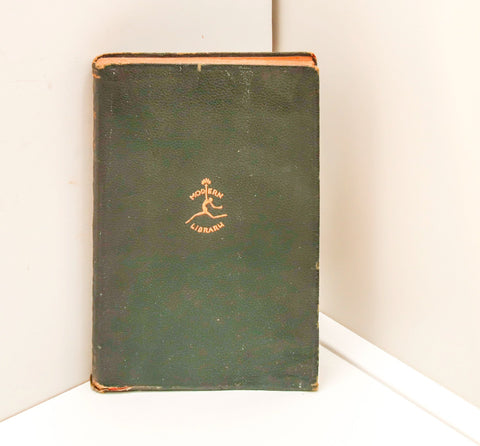 "Faux leather book ""A Night in the Luxembourg"" [1926] First Edition Modern Library Remy de Gourmont-"