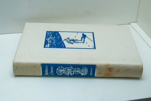 "Vintage ""Robinson Crusoe"" in cloth wraps and slipcase [c.1960] Daniel Defoe Illustrations by Edward Wilson-"