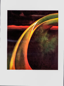 "Georgia O'Keeffe print [1919] ""Orange and Red Streak""  10 1/4"" x 14"" vintage book plate  Ready to frame"