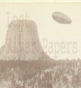 "The Hindenburg Over Devil's Tower"" Man Cave Art National Parks"