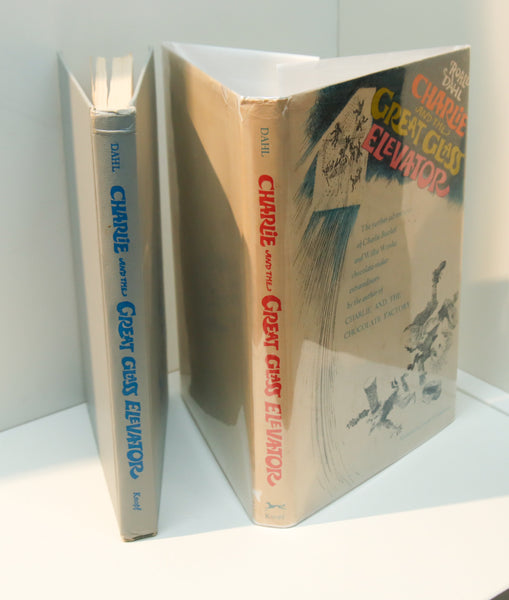 "Roald Dahl ""Charlie and the Great Glass Elevator"" [1980] Vintage hardcover book club edition in original dust wrapper"