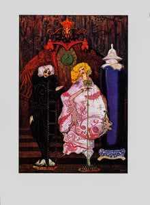 "Harry Clarke ""Have you really the courage to go into the wide world with me?"" [1916] From Hans Christian Anderson Vintage book page"