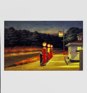 "Edward Hopper vintage print ""Gas"" [1940] oil Art book plate  Ready to frame"
