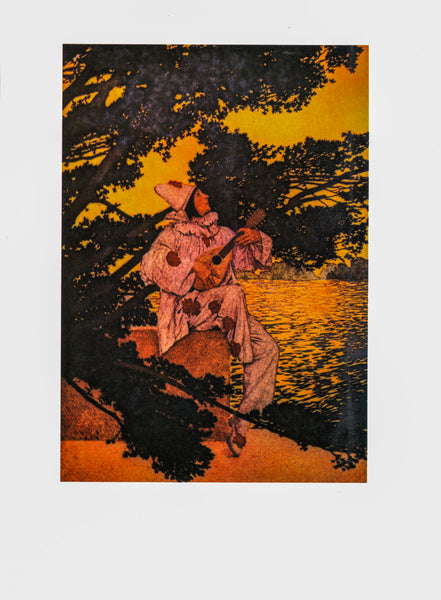 "Maxfield Parrish ""How sweet the answer Echo makes..."" [1911] from A Golden Treasury of Songs and Lyrics"