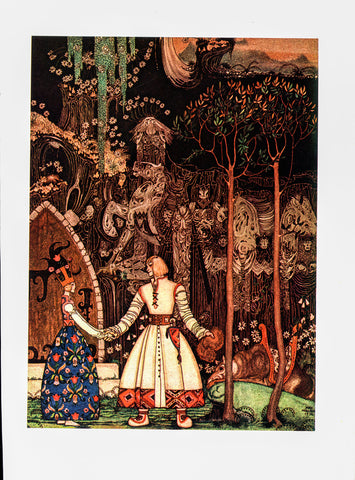 "Kay Nielsen ""He took a long, long farewell of the princess.."" [1914] From East of the Sun, West of the Moon Vintage book page Ready to frame"