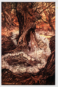 "A Midsummer Night's Dream Arthur Rackham [1908] ""Come, now a roundel."" Color vintage book plate Ready to frame"