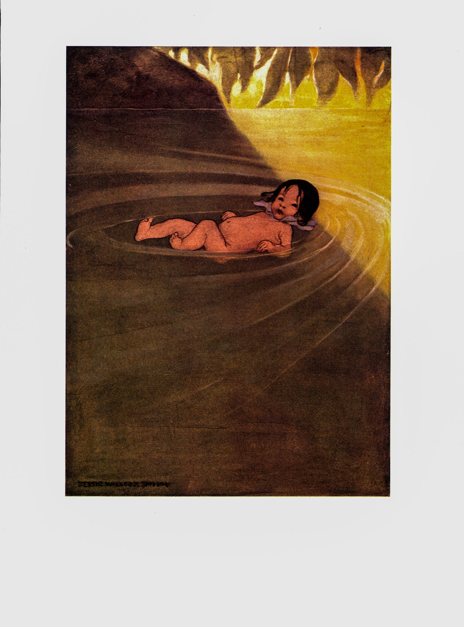 "The Water Babies by Jessie Wilcox Smith [1919] ""He felt how comfortable it was..."" Vintage book print"