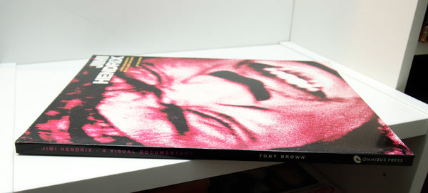 Jimi Hendrix - A Visual Documentary, His Life, Loves and Music [1992] First edition large format softcover book 128 pages