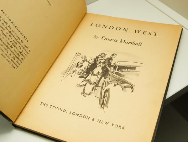 London West [1946] cloth bound vintage hardcover Profusely illustrated non-fiction guide book