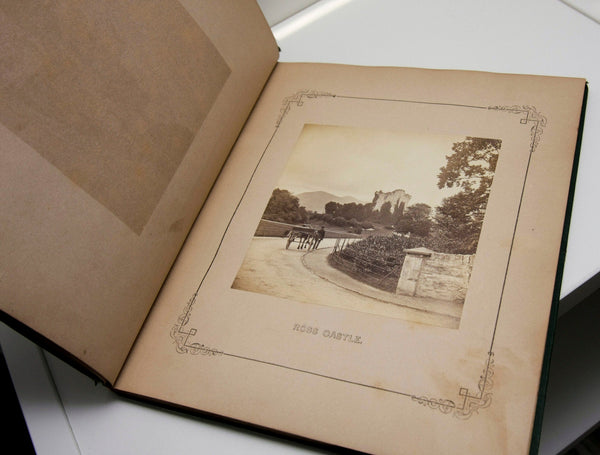 "Antique Book ""Sunny Memories of Ireland's Killarney"" [1867] 15 photographs incl. Ross Castle FREE PRIORITY SHIPPING to U.S."