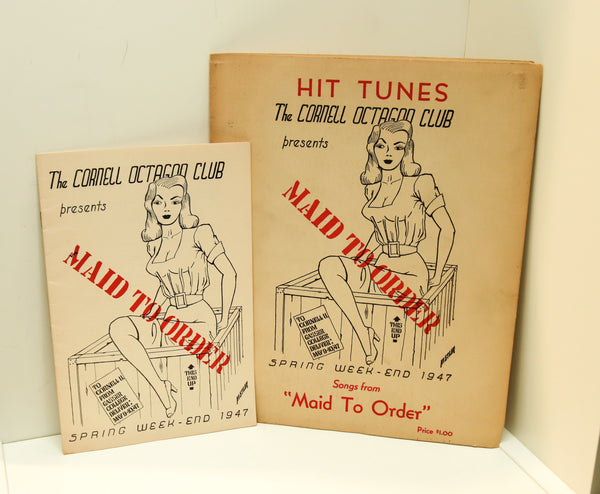 "Cornell University Musical Comedy Production ""Maid to Order"" [1947] Octagon Club sheet music and program FREE PRIORITY SHIPPING to U.S."