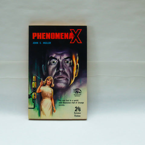 "Sensationalistic science fiction ""Phenomena X"" [1966] Could reality as she knew ever be the same again?!?  Unread vintage paperback"