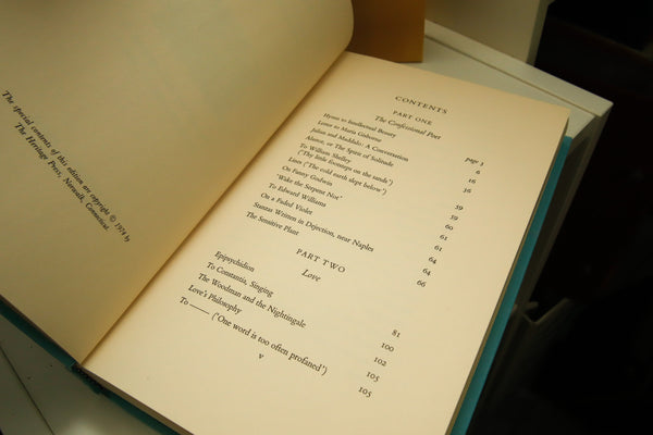 The Poems of Percy Shelley [c.1974] Vintage cloth bound hardcover in slipcase with club insert