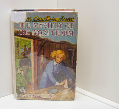 "HudsonPulp: Nancy Drew [1941] ""The Mystery of the Ivory Charm"" book #13 FREE PRIORITY SHIPPING to U.S."