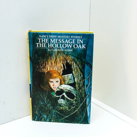 "Nancy Drew mystery YPA novel ""The Message in the Hollow Oak""  [1978] Vintage hardcover children's series book"