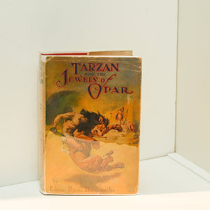 "Edgar Rice Burroughs ""Tarzan and the Jewels of Opar"" [1929] Cloth-bound hardcover in first edition art matching dust wrapper"