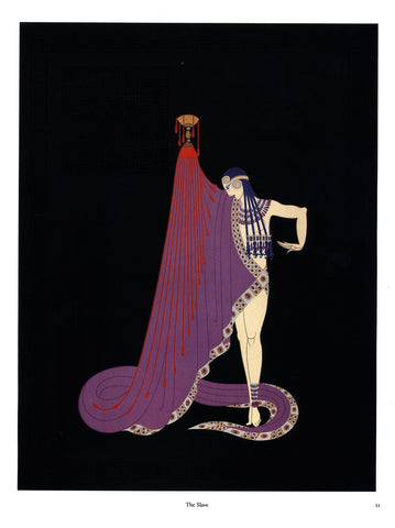 "Erte ""La Traviata""/""The Slave"" [c.1982] Two-sided vintage book page art"