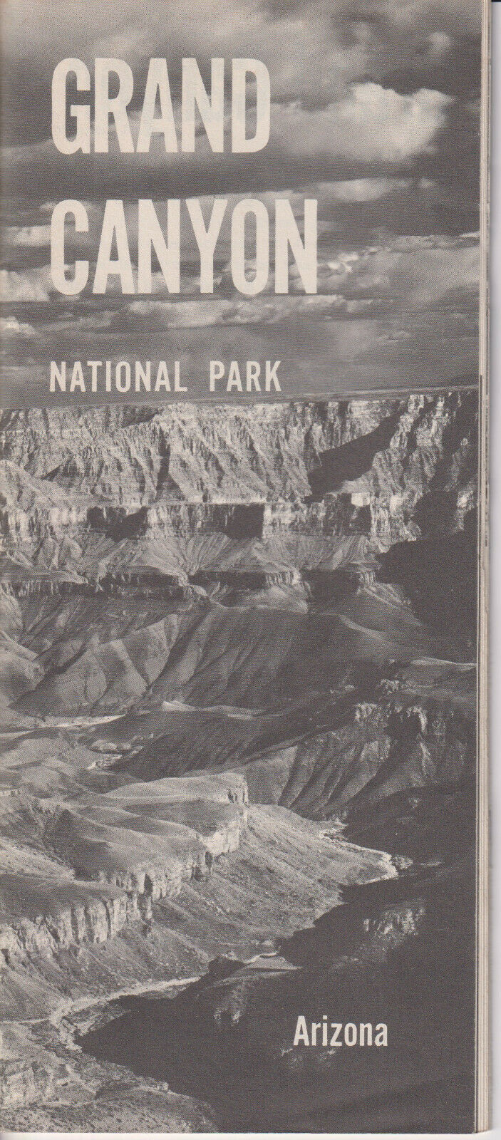 Grand Canyon National Park fold-out 31p. Guide, maps, geologic data [1961]