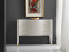Image of Serpentine 2-Drawer Chest In Linen White Textured Finish by Modern History Home