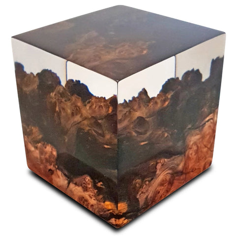 Artisan Handcrafted Blue Pearl Decorative Cube For Your Home by Arditi Collection