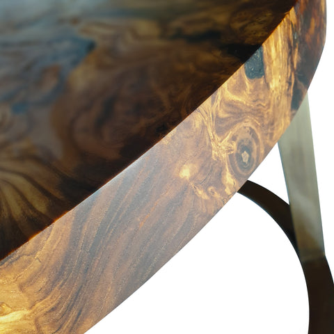 Silverberry Wood Coffee Table With Clear Epoxy Resin by Arditi Collection