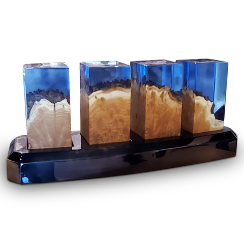 Deep Ocean Cubes with Base Is The Ultimate In Home Decor by Arditi Collection