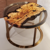 Image of Silverberry Wood Coffee Table With Clear Epoxy Resin by Arditi Collection