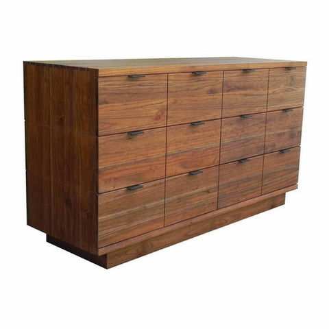 "Papyrus 60"" Contemporary 6-Drawer Dresser shown in Dove and Ginger Finishes by Maria Yee"