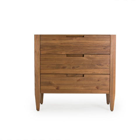 "Bold Katsura Collection: 36"" 3-Drawer Dresser Shown In Ginger Finish by Maria Yee"