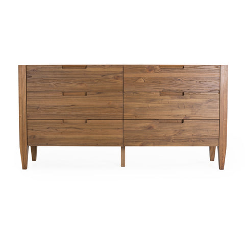 "Katsura Collection: 67"" 6-Drawer Double Dresser Shown in Ginger Finish Combines Modern And Traditional Designs by Maria Yee"