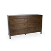 "Image of Classic Aldus Collection: 60"" 8-Drawer Solid Elm Dresser Shown in Pumpernickel Finish by Maria Yee"