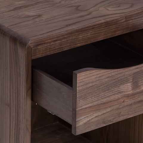 "18"" Elm Nightstand With Self-Closing Drawer Shown In Shiitake Finish by Maria Yee"