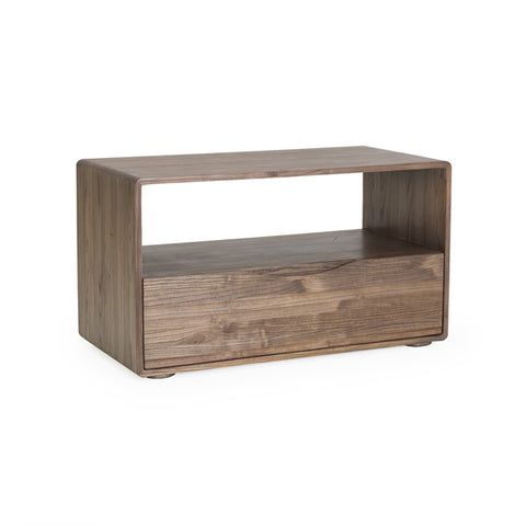 "Merced Handcrafted 36"" 1-Drawer Elm Nightstand Shown In Shiitake Finish by Maria Yee"