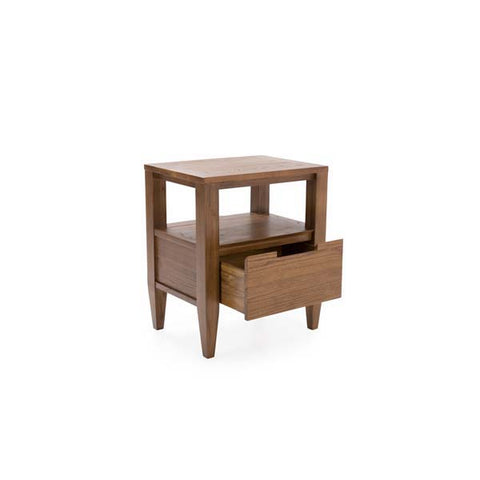 "Katsura Collection: 24"" Solid Elm Nightstand With 1-Drawer And Open Storage Shown In Ginger Finish by Maria Yee"