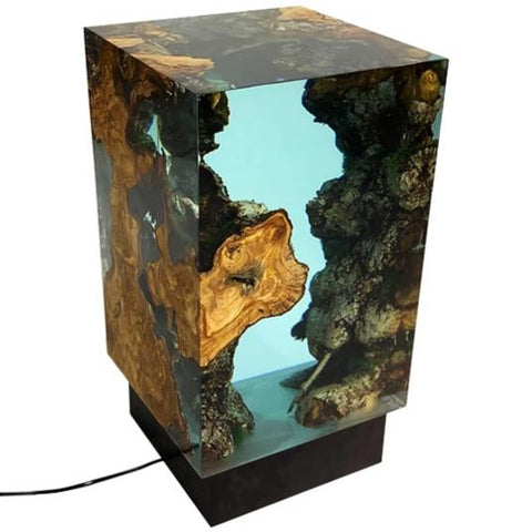 What color do you choose? This Big Ocean Cube Lamp Fits On A Stand by Arditi Collection