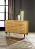 Image of Mid-Century 4-Drawer Chest In Sycamore Wood With Solid Brass Legs by Modern History Home