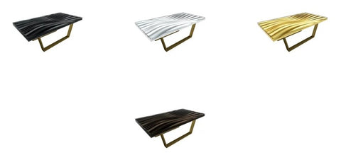 A Plethora Of Choices In This Ultra Modern Wave Coffee Table by Arditi Collection